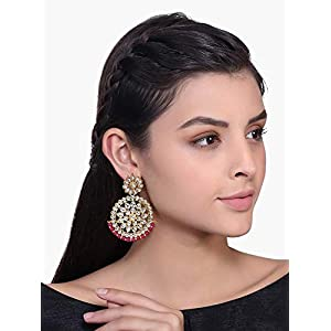 I Jewels Gold Plated Earrings For Women & Girls