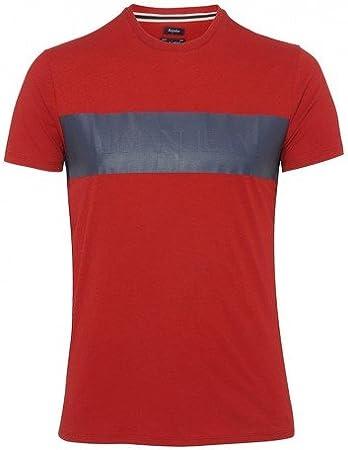 Armani Logo T-Shirt diseño de Tela Vaquera de Color Blanco A6H82