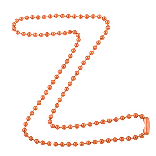 DragonWeave 3.2mm Bright Copper Ball Chain Necklace with Extra Durable Color Protect Finish