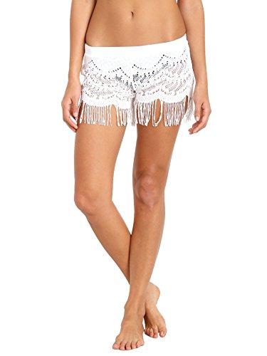 Bettinis Swimwear - Bettinis Lace Shorts with Fringe Bone