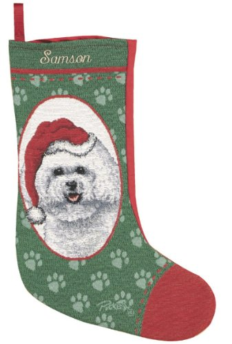 Stocking Christmas Bichon (Personalized Bichon Frise Pet Christmas Stocking)