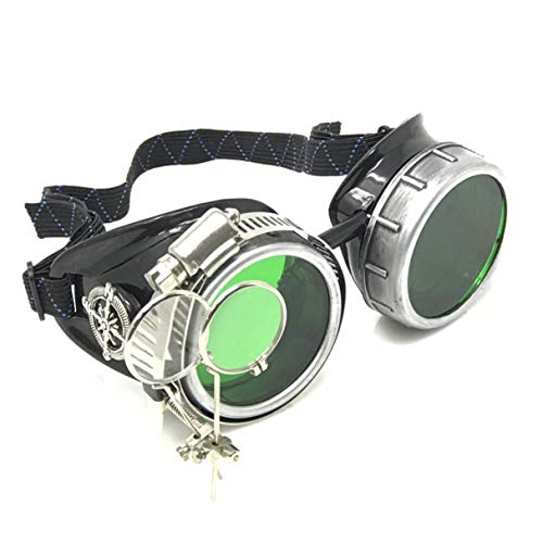 Have a Great time with Steampunk Handcrafted Victorian Style Goggles with Compass Design and Double Ocular Loupe for $<!--$19.99-->