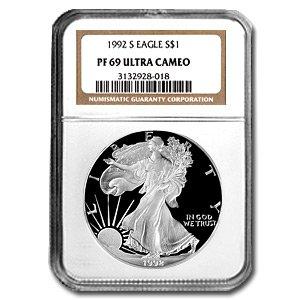 1992-S (PROOF) Silver American Eagle - PR-69 UCAM NGC