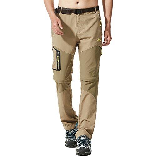 SEEU Mens Outdoor Pants, Rip Stop Lightweight Waterproof Convertible Hiking Pants 33-42