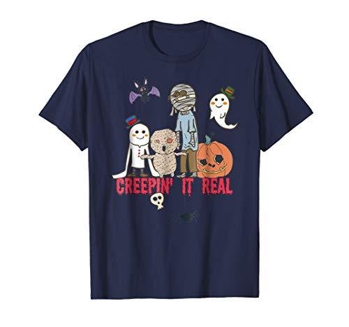 Boo Halloween 2018 T-shirt: Creepin' It Real