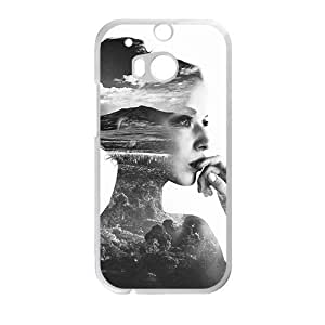 Glam Girl With Scene Body Double Exposure Creative Phone Case For HTC M8