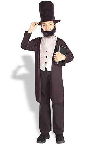 [Classic Abraham Lincoln Child Costume] (Kids Abraham Lincoln Costumes Kit)