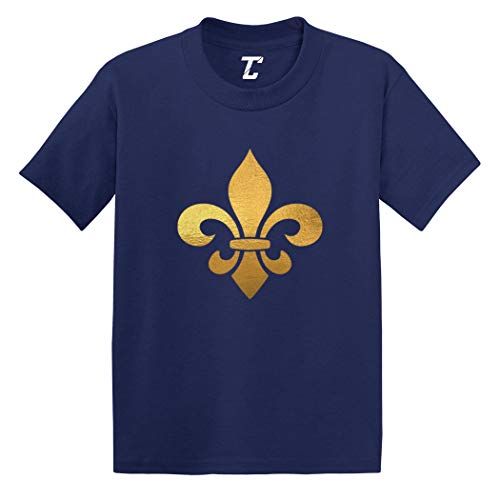 Gold Foil Fleur De Lis - New Orleans Infant/Toddler Cotton Jersey T-Shirt (Navy, 2T)
