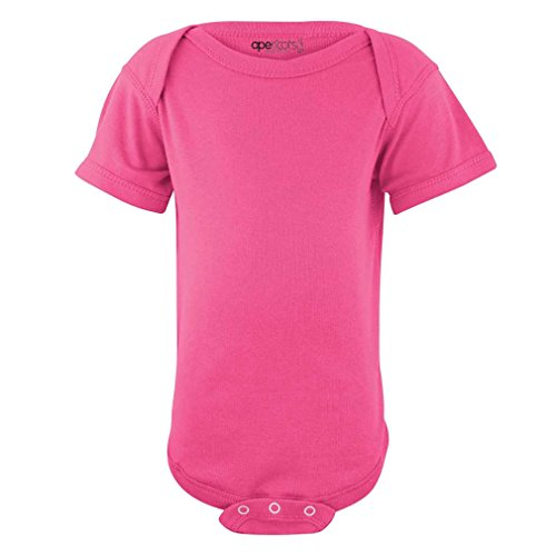 Apericots Super Soft Cotton Blank Plain Comfy Baby Short Sleeve Bodysuit watermelon 18 -