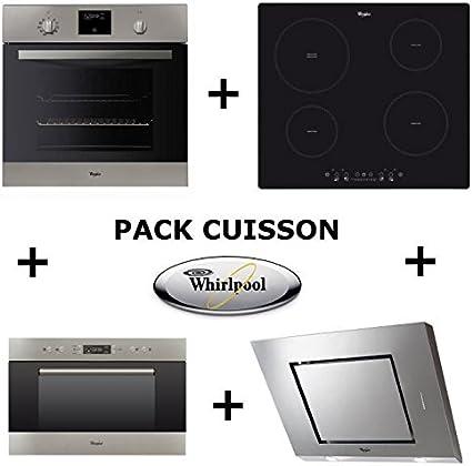 Whirlpool Pack de horno: horno pyrolyse + mesa inducción + campana + microondas encastrable whirlamw703ix: Amazon.es: Grandes electrodomésticos