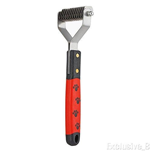 XENO-Pet Dog Cat Hair Fur Shedding Blade Trimmer Grooming Rake Dematting Comb Brush(1 pcs)
