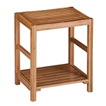 Honey-Can-Do BTH-02100 Bamboo Spa Bench with Contoured Seat, 12.6 by 20-Inch