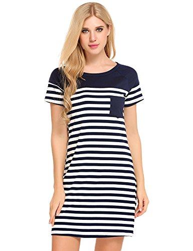 Bluetime Nightgown Pajamas Sleepwear Nightshirt