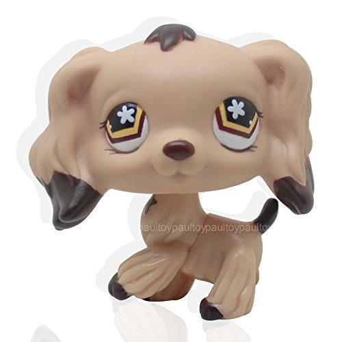 FidgetFidget Rare #575 Littlest Pet Shop Brown Dipped Ears Flower Eyes Cocker Spaniel Dog from FidgetFidget
