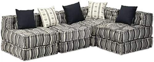 Zora Walter Modular de 4 plazas Dormir sofá plástico Rayas L ...