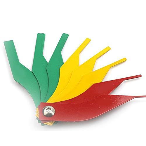 (Merssavo Car Brake Lining Thickness Gauge Brake Pad Feeler Measure 8 Piece Tool Set)
