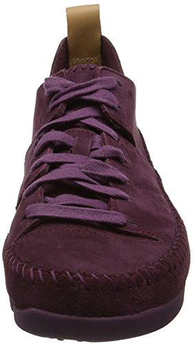 Morado Trigenic Nubuck Zapatillas Flex Mujer Clarks Purple para STqPgw64