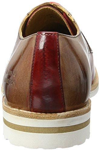Melvin&Hamilton Eddy 8 - Zapatos Derby, Hombre Mehrfarbig (Crust Red/Desert Aspen White)