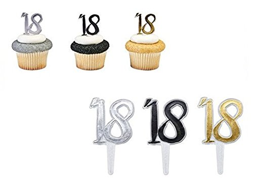 Party Cupcake Pics - '18 Class of 2018 Graduation Party Plastic Cupcake Cake Decoration Toppers Picks Pics 24 Count
