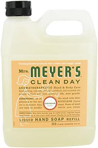 Mrs. Meyer's: Liquid Hand Soap Refill Jug-Geranium, 33 oz