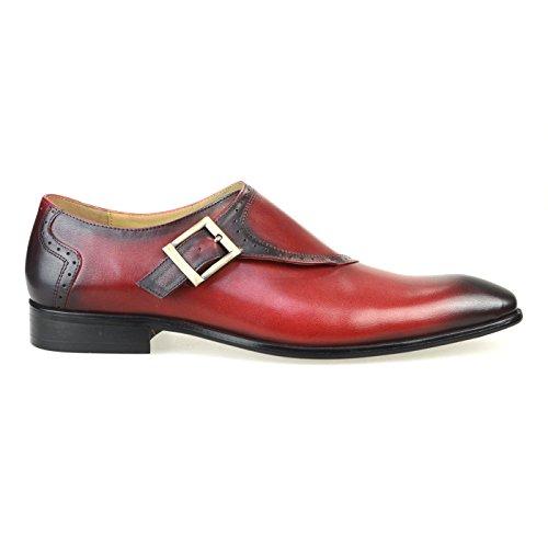 [ルシウス] LUCIUS 本革 20種類から選ぶ レザー メンズ ダブル モンクストラップ メダリオン ストレートチップ 革靴 紳士靴