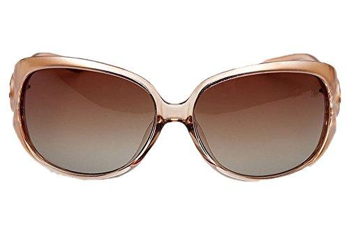 soleil Champagne Cadre UV400 de lunettes polarisé plastique de classique Hellomiko de en mode 71wBqAqO