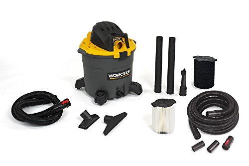 WORKSHOP Wet Dry Vac WS1600VA High Capacity Wet Dry Vacuum Cleaner, 16-Gallon Shop Vacuum Cleaner with 20-Feet Locking Wet Dry Vac Hose and Wet Vac Filters