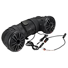 """BOSS ATV20 Power Sports Plug and Play Audio System with Weather Proof 6.5"""" Component Speakers, Built in 450W Amplifier Non Bluetooth, Black"""