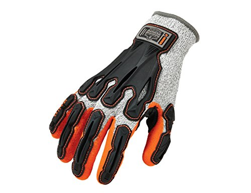 - Nitrile Dipped Work Gloves, Cut Resistant, Cut Level A3, Back Hand Impact Protection, Ergodyne ProFlex 922CR, XL