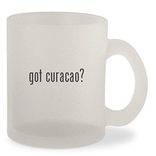 Bols Curacao Orange Liqueur (got curacao? - Frosted 10oz Glass Coffee Cup Mug)