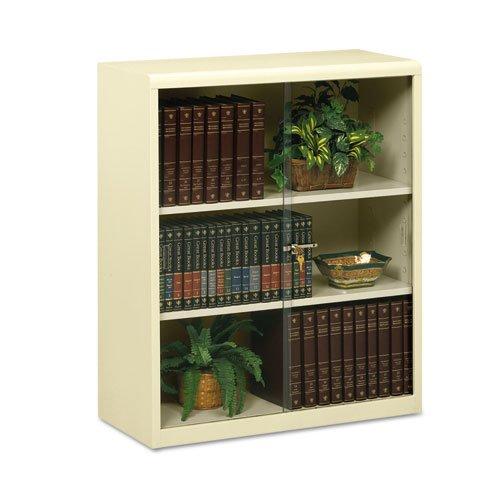 Tennsco 342GL Heavy Gauge Steel Executive Bookcase with Glass Doors and Lock, 36
