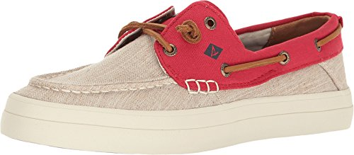 Sperry Top-Sider Women's Crest Resort Canvas Two-Tone Ivory/Red (Sperry Lace Oxfords)