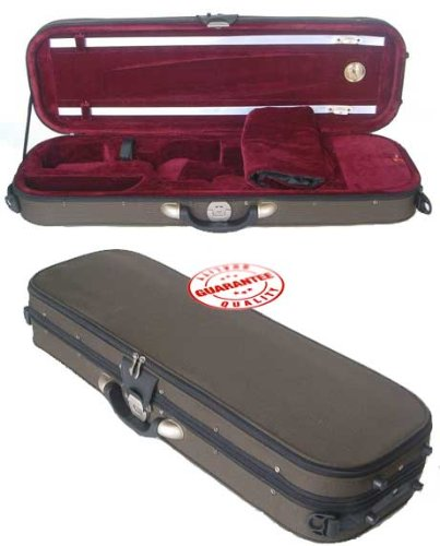 D'Luca VC-550 Pro Oblong Full Size 4/4 Violin Case with Hygrometer D' Luca