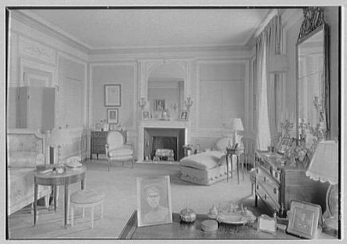 Infinite Photographs Photo: Mrs. Edwin Gould,residence at 936 5th Ave,New York City. Bedroom,to fireplace by Infinite Photographs