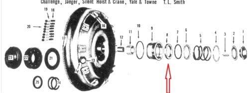 1061168 Fits Chrysler DeSoto Fluid-Drive Coupling Mopar Seal Ring Graphite Carbon Dodge Floating