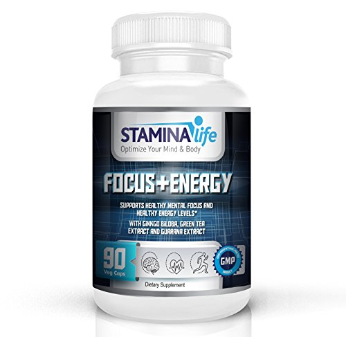 Focus and Energy by Stamina Life a Selected Formula that Supports Mental Focus and Increases Energy Levels|90 Vcaps|Ginkgo Biloba, Gotu Kola, Green Tea Extract, Guarana Extract, Panax Ginseng and more