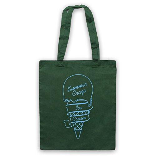 Summer Ice Cream Craze Dark Green Bag