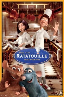 Ratatouille Kitchen - DISNEY RATATOUILLE POSTER - GROUP CAST KITCHEN POSE