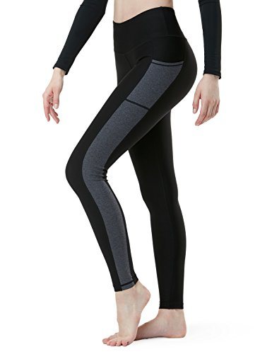 Tesla TM-FYP53-KHC_Medium Yoga Pants Mid-Waist Side Panel Design w Side Pockets FYP53 Review