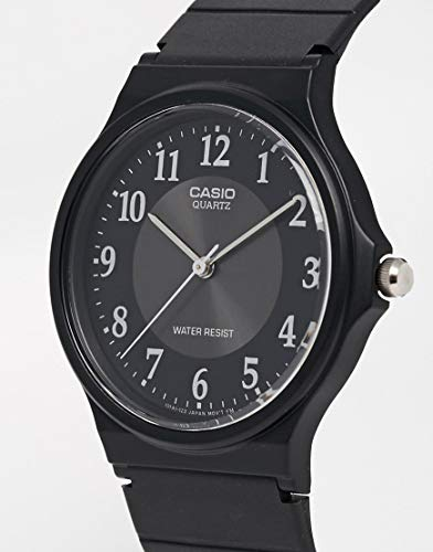 Casio Hommes Analogique Quartz Montre avec Bracelet en Résine MQ-24-1B3LLEF