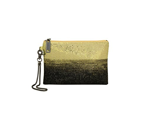 whiting-davis-metal-mesh-ombre-wristlet-chartreuse-one-size