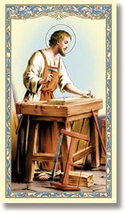 Saint Joseph le Travailleur Sainte carte – Prière vers ST Joseph le  Travailleur sur le dos (lot de 10): Amazon.fr: Fournitures de bureau