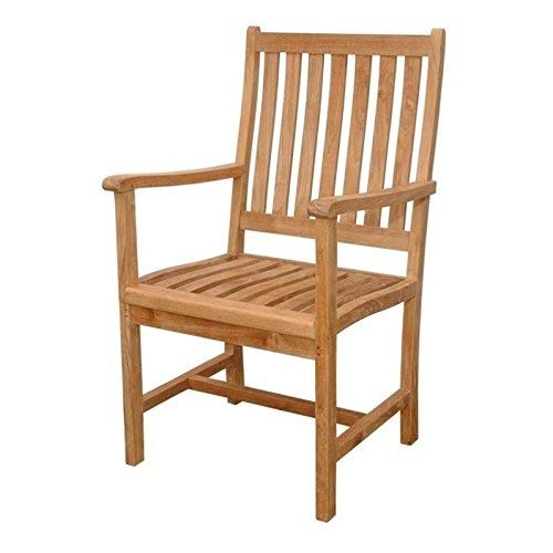 Anderson Teak Wilshire Slat Back Dining Armchair - Unfinished
