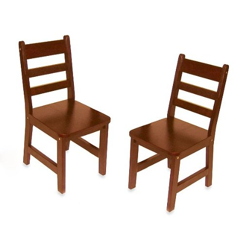 Lipper International 523/4C Child's Chairs, Set of 2, Cherry (Chair Back Cherry Childrens Wood)