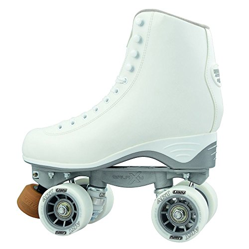 Crazy Skates Celebrity Art Series Rhythm Roller Skates   Classic High White Artistic Quad Skate Style