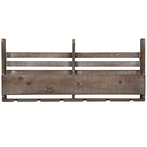 Everly Hart Collection Reclaimed Wood Pallet Wine Rack Décor or Wall Art, Natural (Rack Collection Wine)