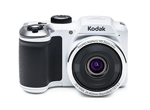 Kodak PIXPRO Astro Zoom AZ251-WH 16MP Digital Camera with 25X Optical Zoom and 3' LCD Screen (White)