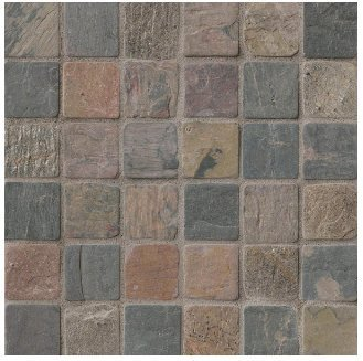 2x2 Mixed Tumbled Slate Mosaic Tiles for Backsplash, Shower Walls, Bathroom Floors, Jacuzzi, Swiming Pools
