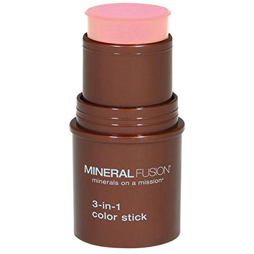 Face Lip Shimmer Stick (Mineral Fusion 3-in-1 Color Stick, Rosette, .18 Ounce)