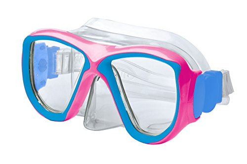 Body Glove Mischief Youth Dive Mask, Pink/Aqua, One Size ()